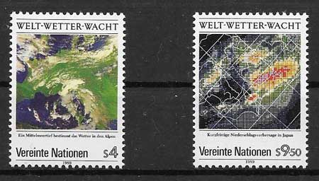 Philately 1989 United Nations Day weather