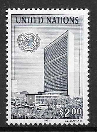 United Nations Building philately 1991