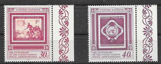 Stamps philately United Nations Postal Administration 1991