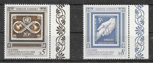 Anniversary Stamps 1991 United Nations Postal Administration