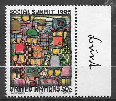 Stamps United Nations Social Summit 1995