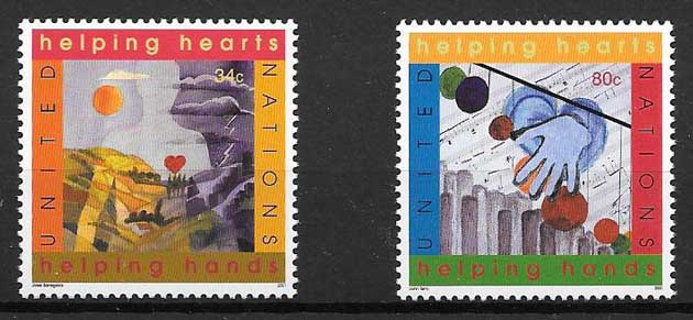United Nations Volunteers philately year 2001