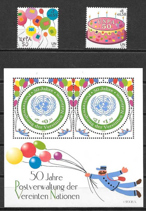 Philately 2001 United Nations Postal Administration