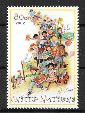 Young collectors stamp collection 2002 United Nations