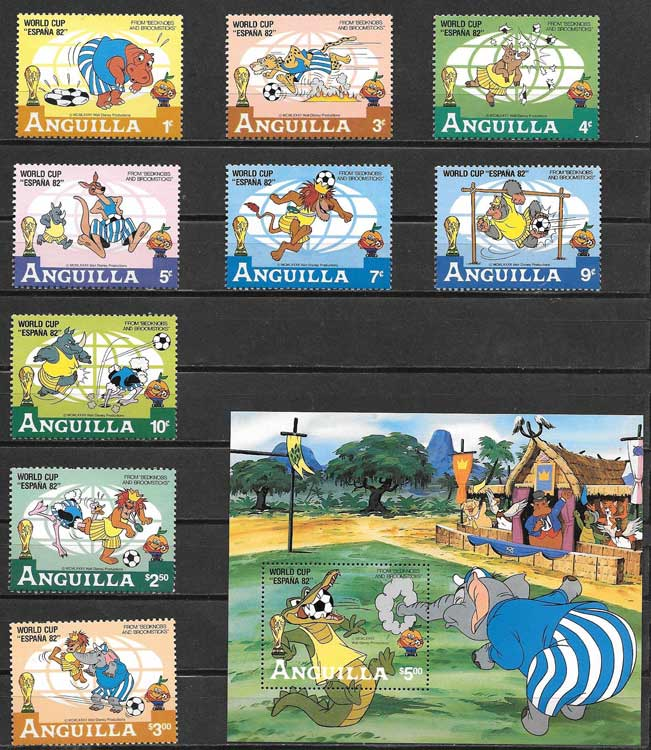 Stamps Anguilla Disney World Cup 1979