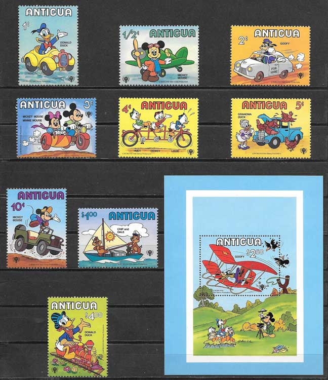 Disney Stamps 1980 International Year Old Child