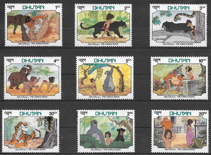 Disney philately 1992 Bhutan The Jungle Book