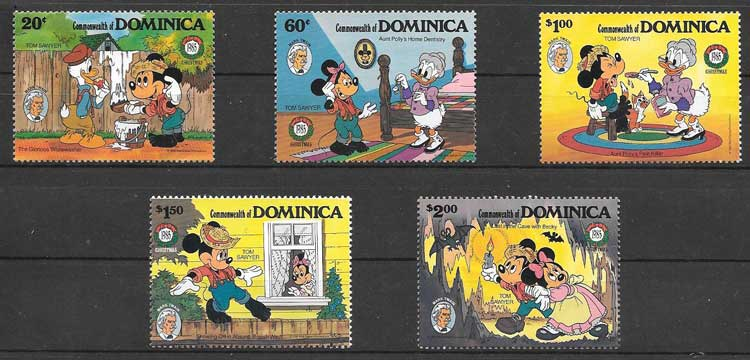 Dominica Christmas 1985 Disney philately