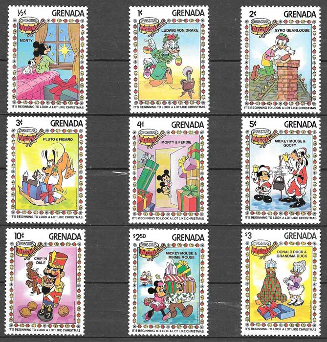 Disney Grenada stamps collection 1983 Christmas