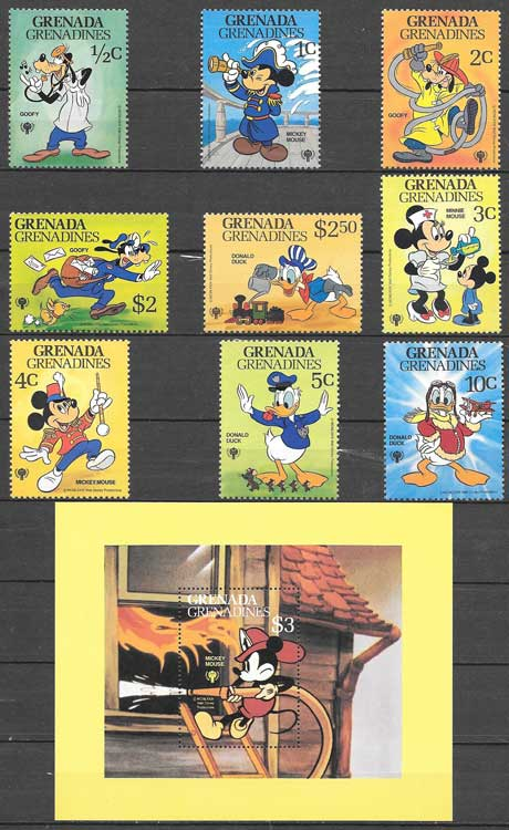 Disney philately Grenadines 1979 International Year of the Child