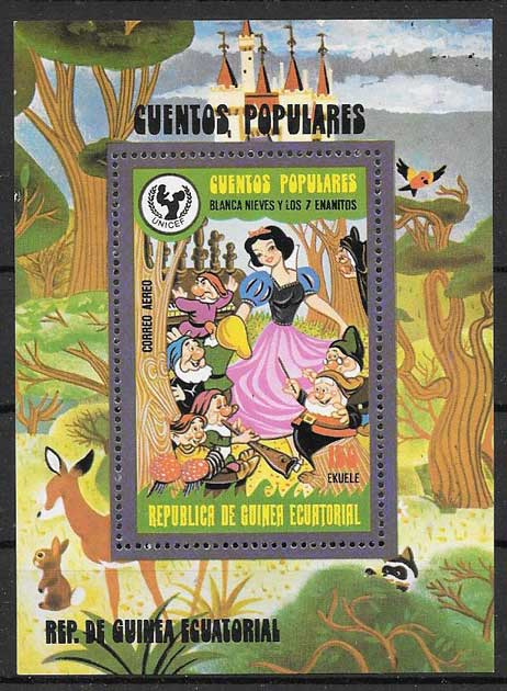 Equatorial Guinea philately Disney Snow White and the 7 Dwarfs