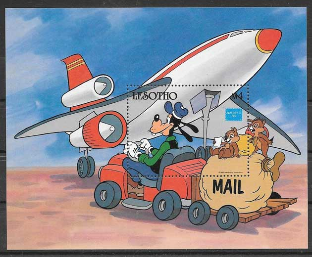 Disney philately Lesotho Amerimpex 86