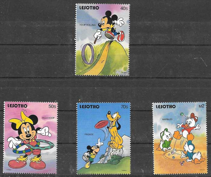 Disney philately playground Lesotho 1991