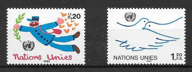 Stamp collection Current series 1985 United Nations
