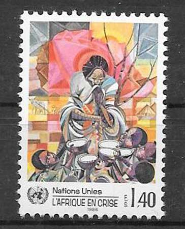Africa stamps collection 1986 UN crisis