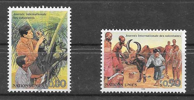 Philately 1988 United Nations Volunteers