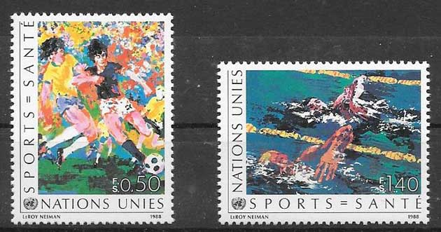 1988 United philately health in sport