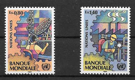 Stamps 1989 United Nations World Bank