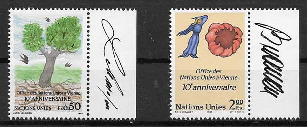 United Nations stamps collection 1989 Vienna office