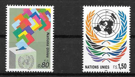 United Nations stamps collection Current series 1991
