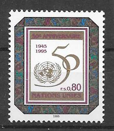 Anniversary stamps collection 1995 United Nations