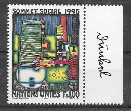 United Nations stamps collection 1995 Copenhagen office
