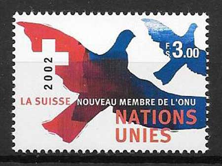 Swiss philately 2002 United Nations