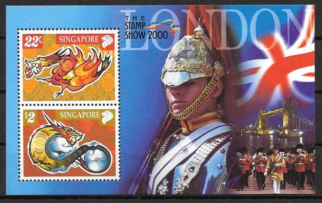 Philately Year Lunar of the dragan Singapore 2000