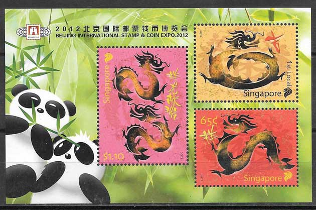 Philatelic Lunar Year of the Dragon Singapore 2012